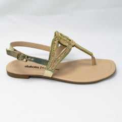 Sandália Dakota Z6942 Rasteirinha Groovy Ouro Light