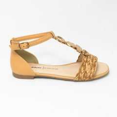 Sandália Dakota Z8663 Tira Pecan Trançada