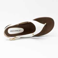 Sandália Piccadilly 418033 Rasteirinha com tiras em Croco