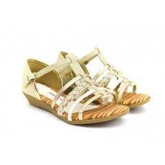 Sandália Pink Cats W8582A Marfim Ouro