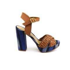 Sandália Tanara T0443 Caramelo/Jeans