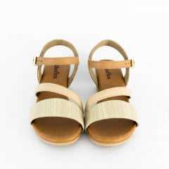 Sandália Usaflex AB6109 Tecido Singapura Blush