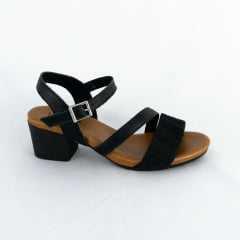 Sandália Usaflex AB6109 Tecido Singapura Preto