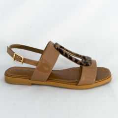 Sandália Usaflex AC3901 Rasteirinha Luxor Caramelo