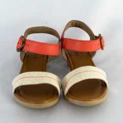 Sandália Usaflex AC4201 Tecido Linha Siena Coral