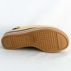 Sandália Usaflex AC4606 Cabedal em Couro Soft Salto listrado Nude