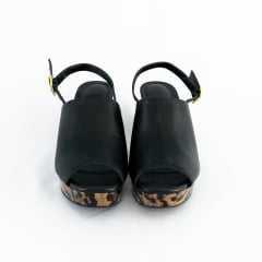 Sandália Usaflex AC5008 Pelica Preto com Tigrado
