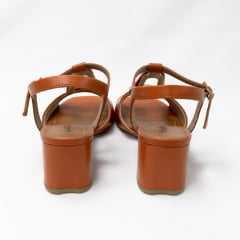 Sandália Usaflex AD1308 Couro legítimo Caramelo