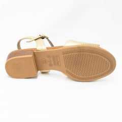 Sandália Usaflex AE4204 Couro Legítimo com textura