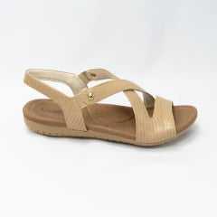 Sandália Usaflex R1804 Couro mini Lezard com elásticos