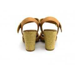 Sandália Usaflex W9704 Vegetal Camel