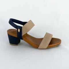 Sandália Usaflex Y8204 Elástico Canelado Avelã
