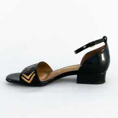 Sandália Vizzano 6412.101 Verniz Premium Preto
