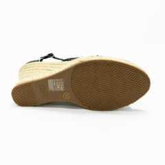 Sandálias Bottero 308304 Espadrilha XIX Trama Bot Preto