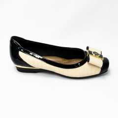 Sapatilha Piccadilly 147152-3 Preto/Creme/Ouro