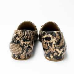Sapatilha Usaflex AC7701 Couro Snake com textura