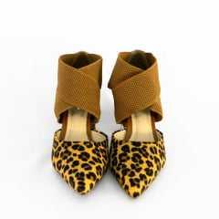 Sapato Bottero 303804 Couro Poney Tigrado Onça