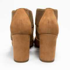 Sapato Bottero 303805 Scarpin Couro Nobuck Amendoa
