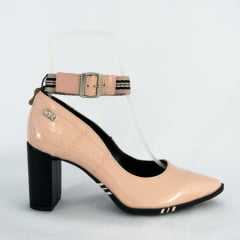 Sapato Tanara T3323 Couro Legítimo Minimal Verniz Blush Rosa Bebê