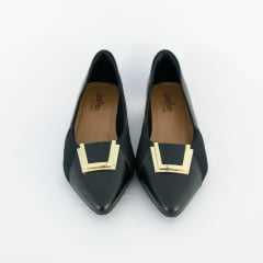 Sapato Usaflex AB6602 Batik Linha Care Preto
