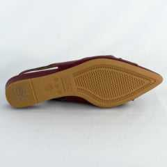 Sapato Usaflex AC2801 Slingback Pelica Rebu Bordô