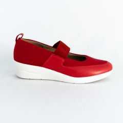 Sapato Usaflex AC2902 Pelica Aurora tecido Lycra Vermelho