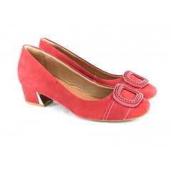 Sapato Usaflex S6536/61 Honey Rebu Vermelho/Dourado