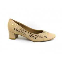 Sapato Usaflex V4202/01 Mestiço Natural Areia
