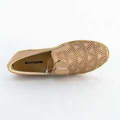 Slip On Bottero 306401 Couro Napa Brown Sugar Nude