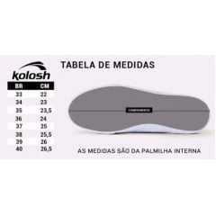 Tênis Kolosh C2404 Slip On com cortes a Laser