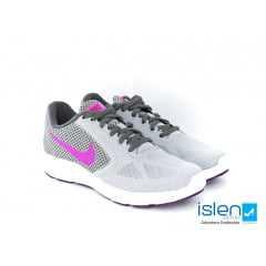 Tênis Nike WMNS Revolution 3 Cinza/Roxo/Prata
