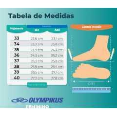 Tênis Olympikus 43424764 Brisa com palmilha Feetpad