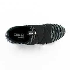 Tênis Tanara T4021 Sneaker Tecido Brilhoso Preto
