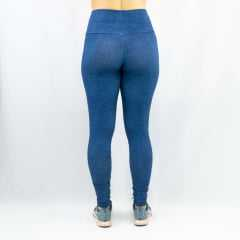 Legging Casual Fit Supplex Jeans Rosa Tatuada  423902