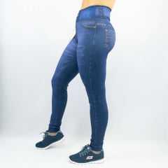 Legging Rola Moça 06271 Reversível 2 em 1 Fake Jeans