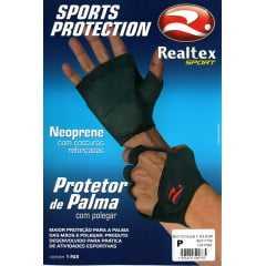 Protetor de Palma Realtex 0706 Luva para Academia ou Ciclismo