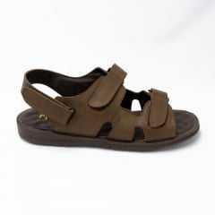 Sandália Rubra 2039 Couro Legítimo com Velcro e palmilha Confort