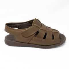 Sandália Rubra 2060 Couro legítimo com Velcro e palmilha Confort