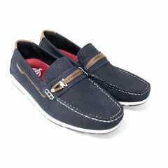 Sapatilha Pegada 140862-05 Couro Jeans Blue/Pull up Coffe