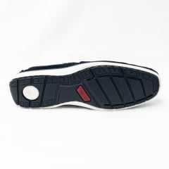 Sapatilha Pegada 141002 Drive em Couro Legítimo Camurça Jeans
