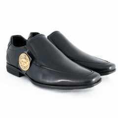 Sapato Ferracini 5986-511G Couro Legítimo linha 24h Preto