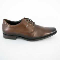 Sapato Pegada 123852-02 Mestiço Preto Pinhão com Cadarço