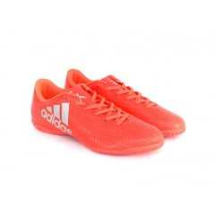 Tênis Futsal Adidas X 16.4 IN Vermelho/Prata