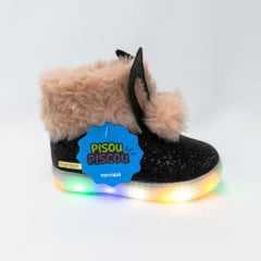 Bota Novopé 318N375 com LED e Glitter