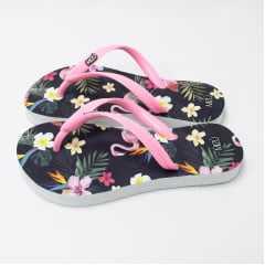 Chinelo de Dedo Mizú Preto Flamingo