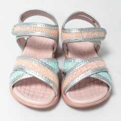 Sandália Ortopé 22050046 com Velcro Rosa Glitter