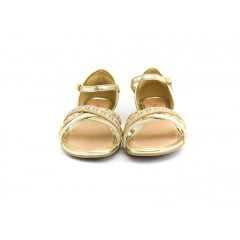 Sandália Pink Cats W8643 Marfim Champagne Dourado