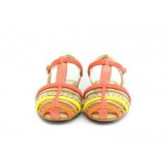 Sandália Pink Cats W8661 Coral/Avelã