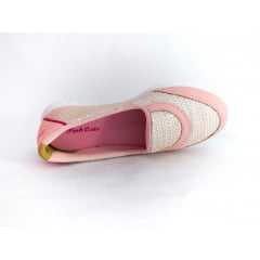 Tênis Pink Cats Bergamo W9252A Brilho Rosa Bebê/Prata