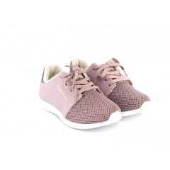Tênis Pink Cats W9041 Jacquard Folhas Lilás